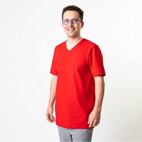 Miesten T-paidan ompelukaava kesäpaidaksi