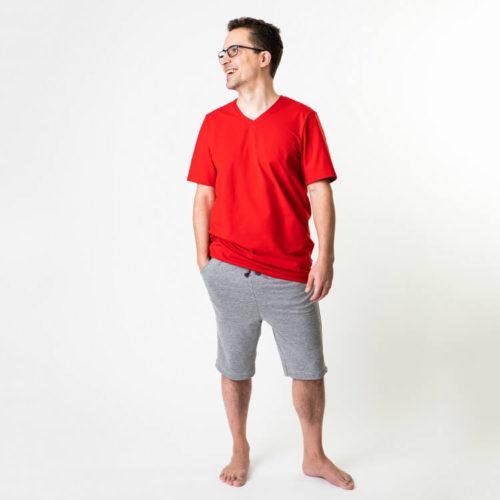 Tyylikäs miesten Pentti pusero T-paita ompelukaava