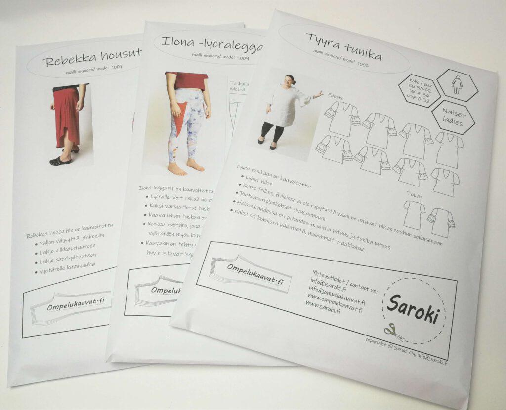 Paperinen ompelukaava on helppo, kun ei tarvitse itse tulostaa ja kasata kaavaa A4 papereista