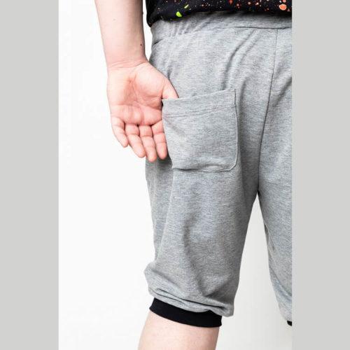 Ragnar housujen ompelukaavassa on shortsi pituus ja takatasku