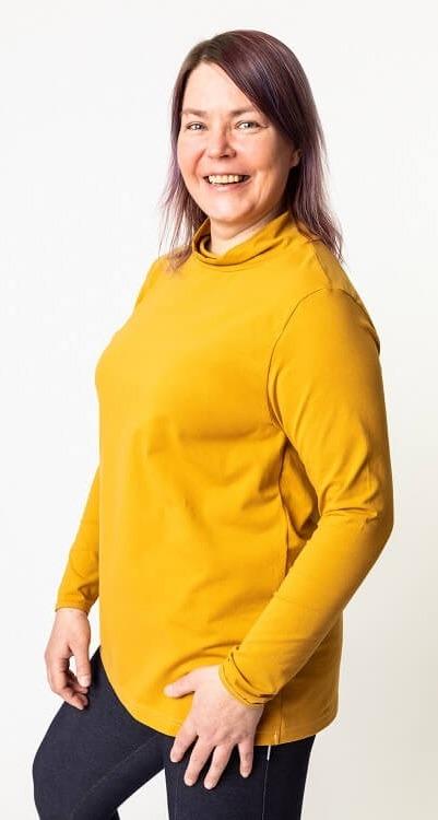 Naisten Birgitta paita ompelukaava kapea