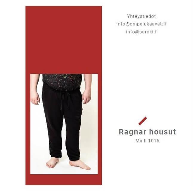 Miesten Ragnar housujen ompelukaavan kuvalliset ompeluohjeet