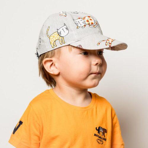 Lippis ompelukaava hattu lapselle kissakankaasta