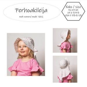 Perhoakileija hattu lapselle suojaa auringolta