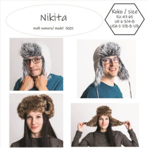 Nikita turkis hattu ompelukaava. Easy to make fur hat pattern