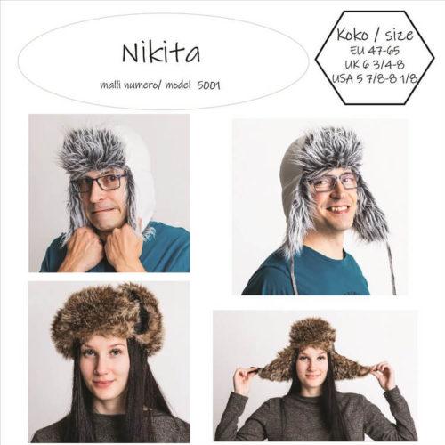 Nikita turkis hattu ompelukaava. Easy to make fur hat pattern