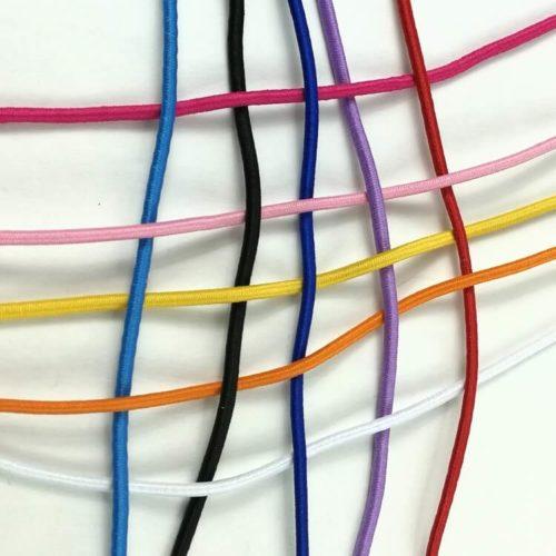 Värikkäät pyöreät kuminauhat polyester päällyksellä