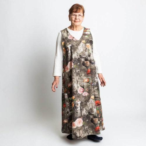 Fanny mekon ompelukaava kokonaisesta kankaasta