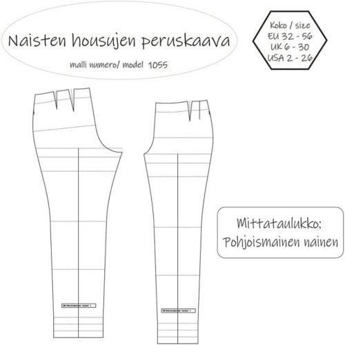 Naisten housujen peruskaava pohjoismainen nainen