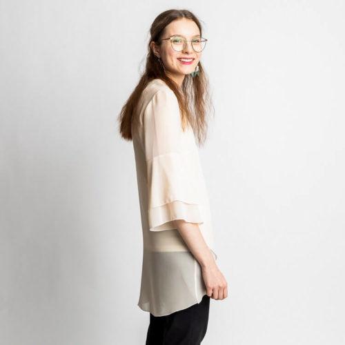 Teresia pusero ompelukaavassa on yksi tai kaksi frillaa