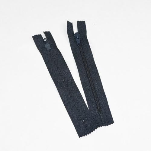 Musta vetoketju 12 cm